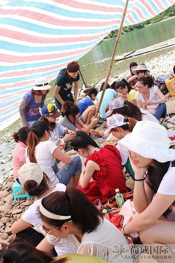 尚成国际三班师生 楠溪江风景区烧烤一日游